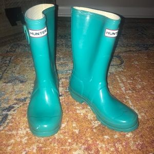 Light Blue Short Rain Boots - Hunter Size 5